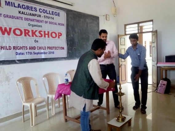 One day workshop on Child Rights and Child Protection held at Milagres College