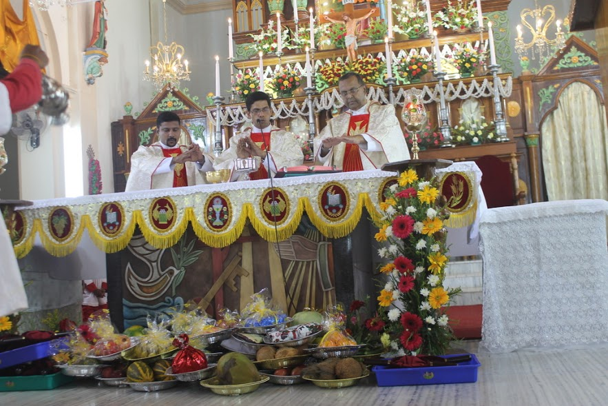 The Nativity of Blessed Virgin Mary celebrated at Milagres Cathedral with gaiety and devotion