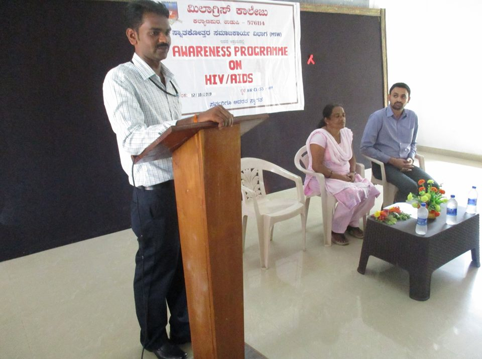 MSW dept. of Milagres College organizes Awareness programme on HIV - AIDS