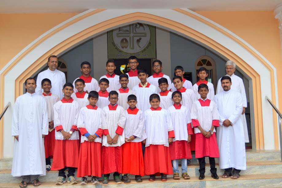 Altar servers of  Milagres Cathedral  celebrate their patron's feast on Nov 5th.
