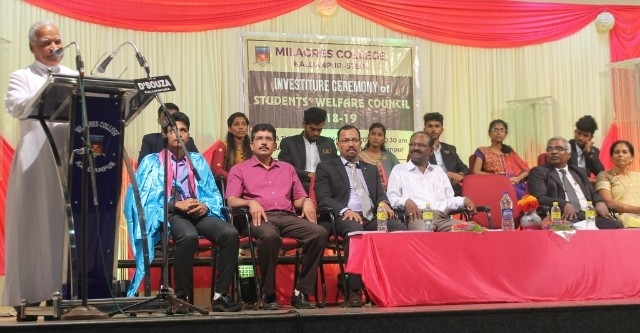 Investiture Ceremony of Students' Welfare Council of Milagres College, Kallianpur for 2018-19
