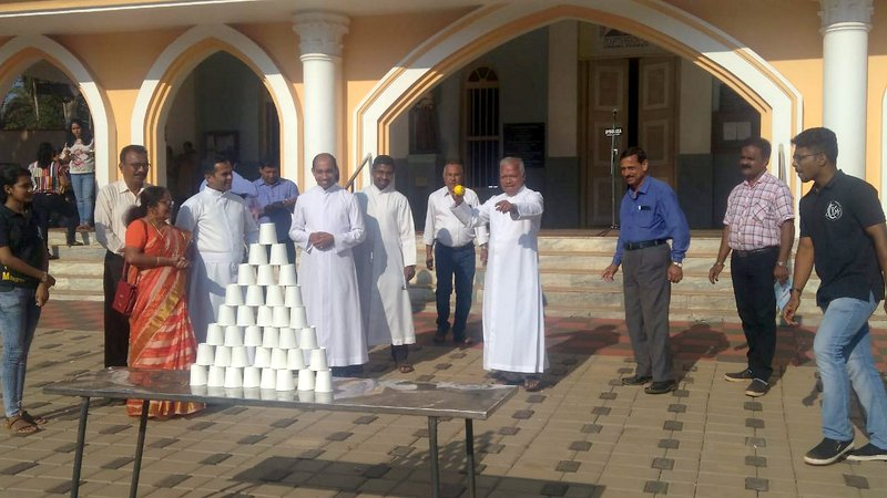 Sports events and skit competition held at Milagres Cathedral, Kallianpur